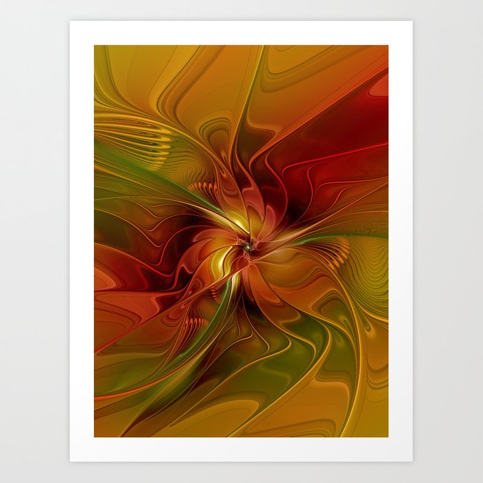 Warmth, Abstract Fractal Art Kunstdrucke