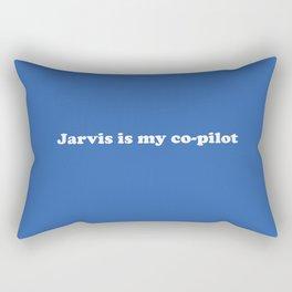 Jarvis is my Co-Pilot Rectangular Pillow