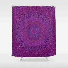 Purple flower mandala Shower Curtain