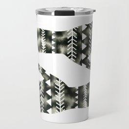 Geometric Triangle Hands Travel Mug
