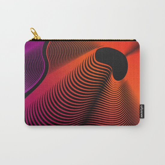 Abstract Moire Carry-All Pouch