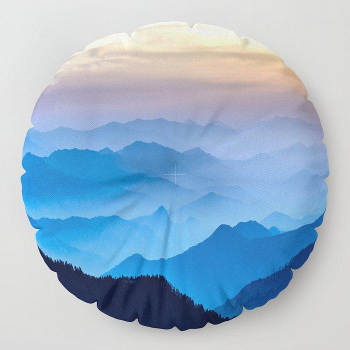 Mountains 11 Floor Pillow