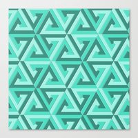 lv Canvas Prints featuring Geometrix LV by Harvey Warwick