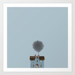 Draw house Art Print
