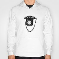 telephone Hoodies featuring Telephone by Plasmodi
