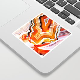 The Vivid Imagination of Nature, Layers of Agate Sticker