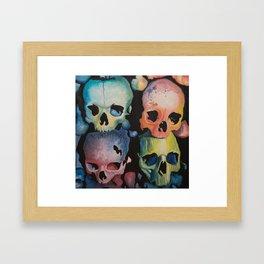 Colorful Skulls Framed Art Print