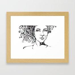 Its the Hair Framed Art Print