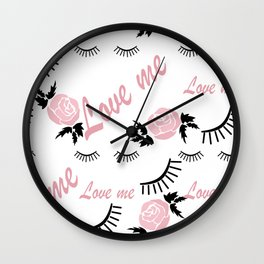Love me 3 Wall Clock