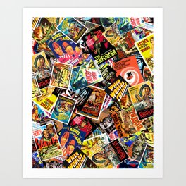Movie Poster Collage #15 Art Print