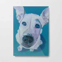 Patches o'Houlihan Dog Portrait Metal Print