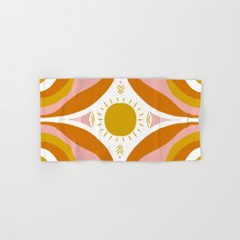 sunshine mandala Hand & Bath Towel
