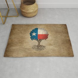 Vintage Tree of Life with Flag of Texas Rug