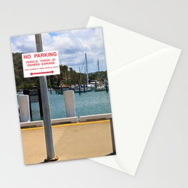 No parking at the harbor Stationery Cards