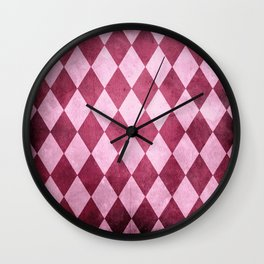 Harlequin Grunge Wall Clock