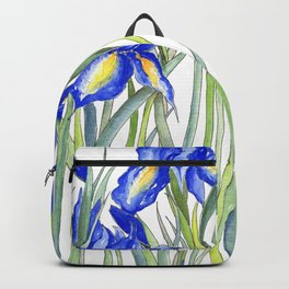 Blue Iris, Illustration Backpack