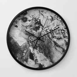 White: Paint Wall Clock