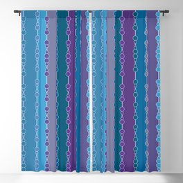 Multi-faceted decorative lines 4 Blackout Curtain