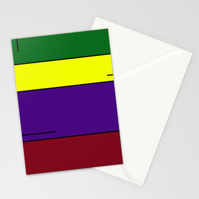 Colorful Line Design Stationery Cards