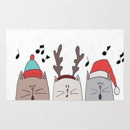 Cats choir snowing copy Rug