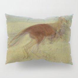 Hopping Kangaroo Overlay Pillow Sham