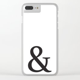Ampersand Print Clear iPhone Case