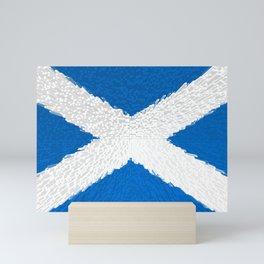 Extruded flag of Scotland Mini Art Print
