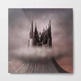 Gothic Castle Ruins Metal Print