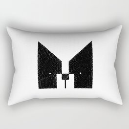 Boston Terrier to the Face! Rectangular Pillow