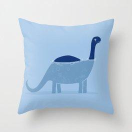 bathing dino Throw Pillow