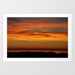 Pacific Ocean Sunset Art Print