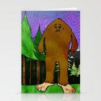 sasquatch Stationery Cards featuring Sasquatch by Michael Scott Murphy