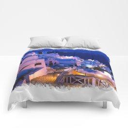 Santorini Sunset III Comforters