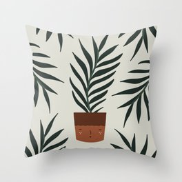Potted Leaves II Throw Pillow