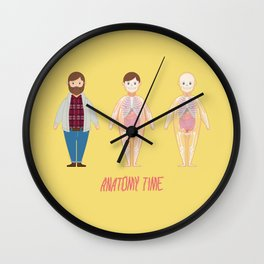 Anatomy Time 3 Figures Wall Clock