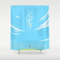 chihiro Shower Curtains featuring One summer day by Galaxyspeaking