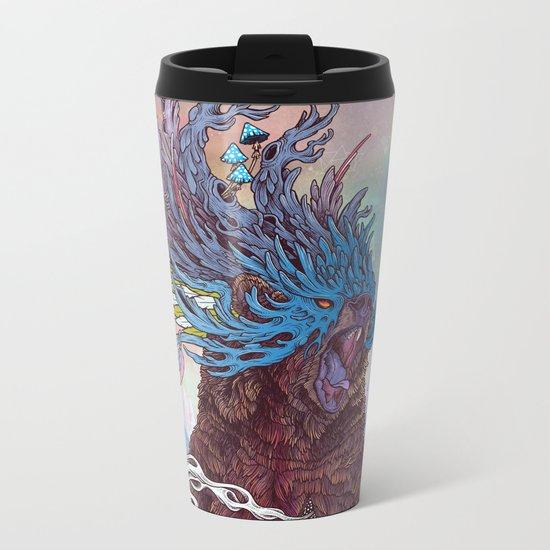 Journeying Spirit (Bear) Metal Travel Mug
