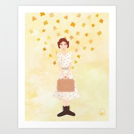 goodbye, butterfly Art Print