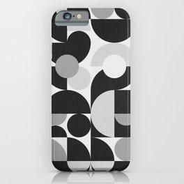 Mid Century Shapes N.09 / Monochrome Minimalism iPhone Case