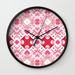 Soft Pink Swirling Wall Clock