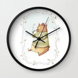 Happy Bear Wall Clock