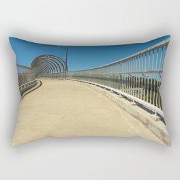 bridge approach new empty clear blue sky. Rectangular Pillow