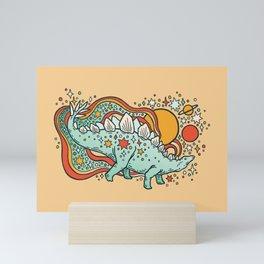 Star Stego   Retro Reptile Palette Mini Art Print