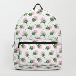 Pink thistel - Waterolor Backpack