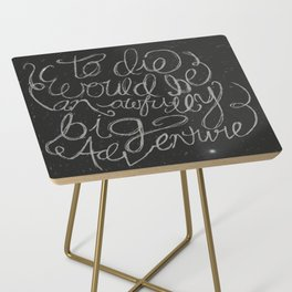Peter Pan Quote Side Table