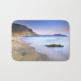 Plomo beach at sunset Bath Mat