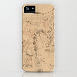 Vintage Map of The Battle of Gettysburg (1864) iPhone Case