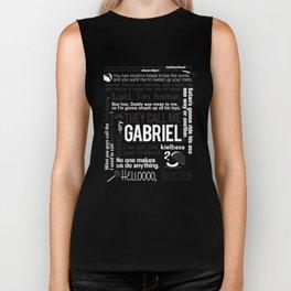 Supernatural - Gabriel Quotes Biker Tank