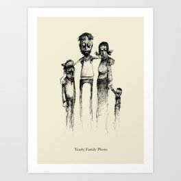 Yearly Family Photo Art Print