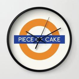 Piece Of Cake  TFL Wall Clock